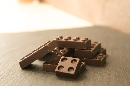 Lego al cioccolato fondente